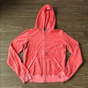 Juicy couture terry cloth jacket in peach